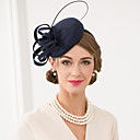 cheap Party Headpieces-Wool / Feather Fascinators / Hats / Headwear with Floral 1pc Wedding / Special Occasion / Casual Headpiece