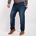 hesapli Moda Kolyeler-Erkek Büyük Bedenler Pamuklu Kotlar Pantolon Solid