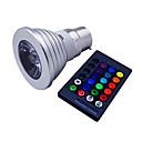 preiswerte LED Glühbirnen-1pc 3 W 120 lm E14 / GU10 / B22 LED Spot Lampen 1 LED-Perlen Hochleistungs - LED Abblendbar / Ferngesteuert / Dekorativ RGB 85-265 V / 1 Stück / RoHs