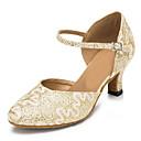 preiswerte Latein Schuhe-Damen Schuhe für den lateinamerikanischen Tanz / Jazztanzschuhe / Schuhe für modern Dance Spitze / Glitzer Sandalen / Absätze Schnalle /