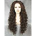 cheap Synthetic Capless Wigs-Synthetic Lace Front Wig Curly Synthetic Hair Natural Hairline Brown Wig Women's Long Lace Front Brown