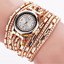 baratos Jogos de Tabuleiro-Mulheres Bracele Relógio / Relógio de Pulso Luminoso / Legal / Punk PU Banda Amuleto / Brilhante / Vintage Preta / Azul / Prata