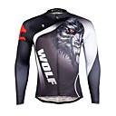 tanie Zestawy koszulek i spodni rowerowych-ILPALADINO Męskie Długi rękaw Koszulka rowerowa Rower Koszulka, Szybkie wysychanie, Odporność na promieniowanie UV, Oddychający / Elastyczny / a / Odblaskowe paski