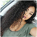 cheap Human Hair Wigs-Remy Human Hair Glueless Lace Front / Lace Front Wig Water Wave Wig 130% / 150% Natural Hairline / African American Wig / 100% Hand Tied Women's Medium Length / Long Human Hair Lace Wig
