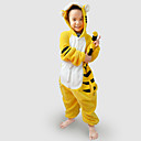 povoljno Kigurumi plišane pidžame-Dječji Kigurumi plišana pidžama Tigar Sa životinjama Onesie pidžama Flanel Flis Bijela Cosplay Za Dečki i cure Zivotinja Odjeća Za Apavanje Crtani film Festival / Praznik Kostimi