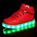 preiswerte Jungenschuhe-Mädchen Schuhe Kunststoff Frühling Komfort / Leuchtende LED-Schuhe Sneakers Klett / LED für Weiß / Schwarz / Rot