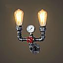 رخيصةأون ستائر شفافة-CXYlight ريفي / بلدي / قديم / زهري مصابيح الحائط معدن إضاءة الحائط 110-120V / 220-240V Max 60W