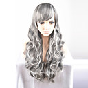 cheap Synthetic Lace Wigs-europe and the united states ms long new year fashion long gray hair high temperature wire wig