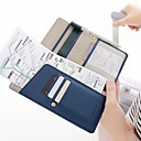 cheap Travel Security-PU Leather Travel Wallet Passport Holder & ID Holder Waterproof Portable Dust Proof Travel Storage