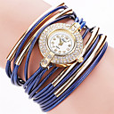 baratos Roupas de Caça-Mulheres Bracele Relógio Relógio Casual PU Banda Vintage / Casual / Fashion Preta / Branco / Azul