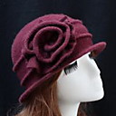 billige Mode Halskæde-Dame Bowler- / Cloche-hat - Uld Ensfarvet / Efterår / Vinter