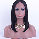 cheap Costume Wigs-Human Hair Glueless Lace Front / Lace Front Wig Straight Wig 130% Natural Hairline / African American Wig / 100% Hand Tied Women's Short / Medium Length / Long Human Hair Lace Wig