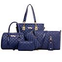 povoljno Crossbody Torbe-Žene Zakovica Bag Setovi / Patent-zatvarač Kompleti za vrećice Posebna materijala Jednobojni Crn / Kava / Plava