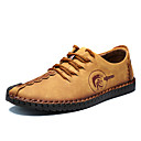 baratos Oxfords Masculinos-Homens Sapatos de couro Microfibra Primavera / Outono Conforto Oxfords Anti-Estático Preto / Amarelo / Khaki