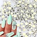 abordables Decoraciones y Diamantes Sintéticos para Manicura-1pack Joyas de Uñas Encantador arte de uñas Manicura pedicura Glitters / Reluciente / Joyería de uñas