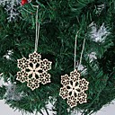 abordables Artículos para Fiestas de Navidad-Adornos Madera Decoraciones de la boda Navidad Invierno