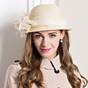 cheap Party Headpieces-Women's Feather Basketwork Flax Headpiece-Wedding Special Occasion Casual Fascinators Hats 1 Piece
