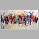 baratos Pinturas a Óleo-Pintados à mão Abstrato / Paisagem Pinturas a óleo,Moderno / Pastoril 1 Painel Tela Pintura a Óleo For Decoração para casa