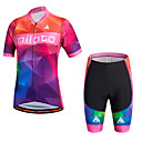 cheap Cycling Jersey & Shorts / Pants Sets-Miloto Women's Short Sleeve Cycling Jersey with Shorts Plus Size Bike Shorts / Bib Shorts / Jersey, Breathable, 3D Pad, Quick Dry, Reflective Strips, Sweat-wicking Polyester, Silicon Classic