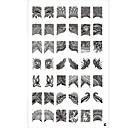 baratos Carimbos para Unhas-arte de unha Placa de Carimbar Abstracto Clássico Alta qualidade Diário