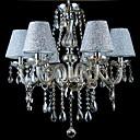baratos Luminárias de Teto-6-luz Estilo de vela Lustres Luz Superior - Cristal, 110-120V / 220-240V Lâmpada Não Incluída / 20-30㎡ / E12 / E14