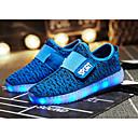 זול LED Shoes-בנים נוחות / נעליים זוהרות סריגה נעלי אתלטיקה ילדים קטנים (4-7) / ילדים גדולים (7 שנים +) LED ירוק / כחול / ורד מאובק סתיו / TR