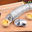 abordables Utensilios de Horno-50 unids desechables tazas de papel de aluminio para hornear hornear muffin magdalena molde redondo