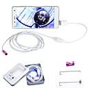 abordables Microscopios y Endoscopios-7mm joyshine 3.5m 6led 2 en 1 endoscopio androide cámara de inspección impermeable OTG micro USB