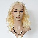 billige Blondeparykker af menneskehår-Menneskehår Blonde Front Paryk Krop Bølge Paryk 130% Natural Hairline / Afro-amerikansk paryk / 100 % håndbundet Dame Kort / Medium Blondeparykker af menneskehår