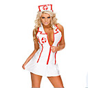 cheap Uniforms Accessories-Career Costumes Nurse Cosplay Costume Party Costume Women's Hospital Services Uniforms Christmas Halloween New Year Festival / Holiday Spandex Outfits White Color Block