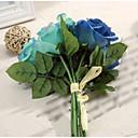hesapli LED Ampuller-Yapay Çiçekler 1 şube Modern Stil Güller Masaüstü Çiçeği