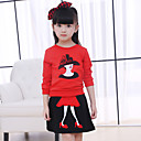 cheap Girls' Clothing Sets-Toddler Girls' Going out Patchwork Long Sleeve Cotton Clothing Set