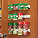 abordables Organización para la Cocina-botella de cocina spice organizer rack puerta spice clips 20-clip set