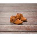 halpa Tyttöjen kengät-Tyttöjen Kengät Nahka Talvi Muotisaappaat Bootsit Tupsuilla varten Musta / Ruskea / Punainen / Kiilakantapää