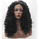 cheap Synthetic Lace Wigs-Synthetic Lace Front Wig Kinky Curly Synthetic Hair Natural Hairline Black Wig Women's Lace Front