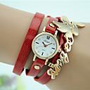 cheap Fashion Watches-Women's Quartz Bracelet Watch Imitation Diamond Wing Leather Band Charm Casual Black White Blue Red Orange Brown Green Navy