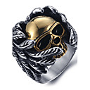 cheap Men's Rings-Men's Statement Ring / Ring - Titanium Steel Skull Vintage, Punk, Fashion 8 / 9 / 10 Silver For Halloween / Daily / Casual