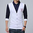 رخيصةأون ديكور-رجالي قطن قميص قياس كبير ياقة مع زر سفلي - أناقة الشارع ألوان متناوبة, عمل / كم طويل