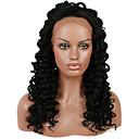 رخيصةأون باروكات كابلس صناعية-الدانتيل الجبهة الباروكات الاصطناعية Kinky Curly شعر مستعار صناعي شعري طبيعي أسود شعر مستعار للمرأة دانتيل في الأمام أسود فحم