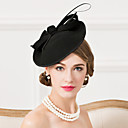 cheap Party Headpieces-Wool / Feather Fascinators / Hats with 1 Wedding / Special Occasion / Casual Headpiece