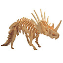 cheap 3D Puzzles-3D Puzzle Wooden Puzzle Wooden Model Triceratops Dinosaur Bones DIY Wooden 1 pcs Kid's Adults' Boys' Girls' Toy Gift