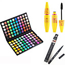 cheap Eye Kits & Palettes-Eyeshadow Palette Mascara Eyeliner Makeup Eye Eyelash Dry Matte Shimmer Waterproof Fast Dry Extended # 120 Colors Cosmetic Grooming Supplies