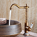cheap Sprinkle® Faucets-Bathroom Sink Faucet - Widespread Antique Copper Centerset Single Handle One Hole