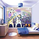 abordables Murales-Floral Art Decó 3D Decoración hogareña Moderno Revestimiento de pared, Lona Material adhesiva requerida Mural, Revestimiento de paredes