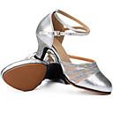 baratos Sapatos de Dança Moderna-Mulheres Sapatos de Dança Latina Glitter / Couro Salto Gliter com Brilho / Presilha Salto Personalizado Personalizável Sapatos de Dança