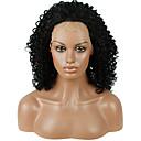 abordables Pelucas Sintéticas con Agarre-Pelucas sintéticas Kinky Curly Pelo sintético Entradas Naturales Negro Peluca Mujer Encaje Frontal