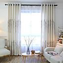 tanie Zasłony okienne-zasłony zasłony Sypialnia Rysunek Mieszanka Lnu i Poliestru Wydrukować