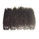 cheap Unprocessed Hair-Human Hair Remy Weaves Curly / Kinky Curly Brazilian Hair 1000 g 1 Year