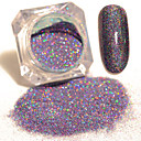 cheap Rhinestone & Decorations-1 box starry holographic laser powder manicure nail art glitter powder mixed