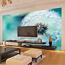 billige Trykk-stor 3d tapet veggmaleri enkel hvit maskros blå bakgrunn stue soverom tv bakgrunn wallcoving448 × 280cm